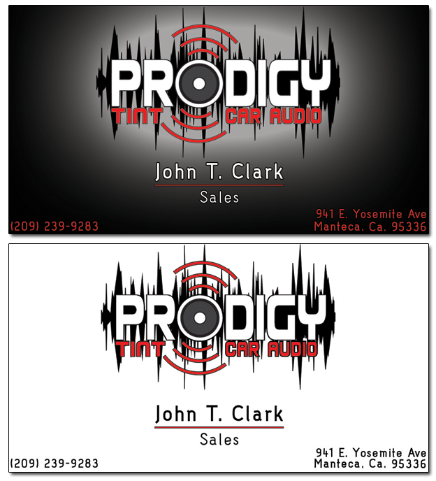 Prodigy car audio nick irion web design simple business card at reqeust colourmoves